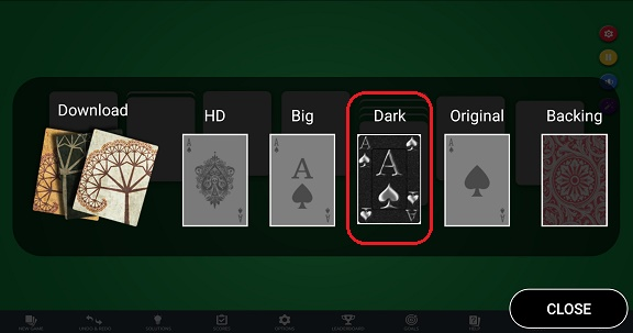 Select Dark deck in Settings / Customize Look / Face
