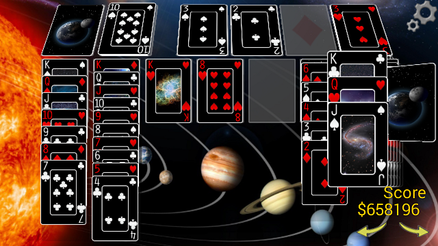 Space deck with wallpaper